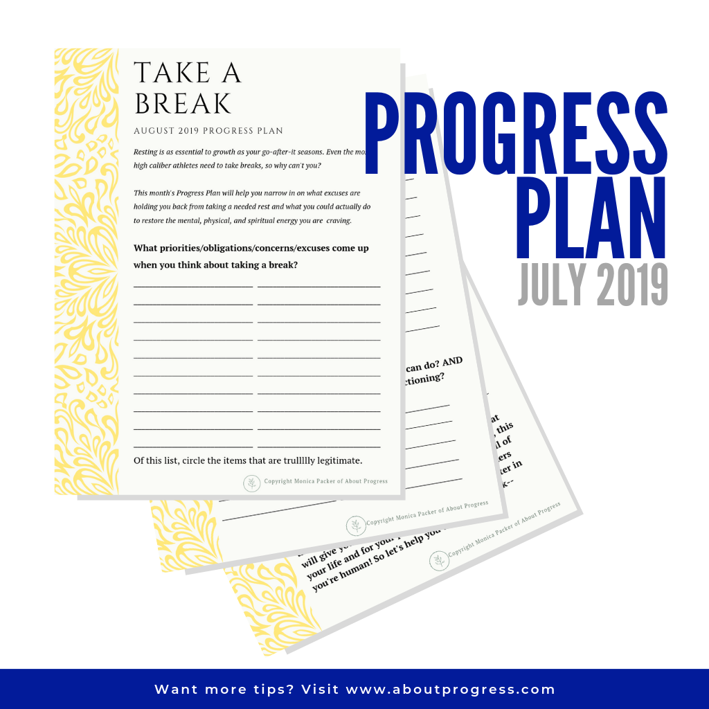 photo about Take What You Need Printable called Totally free Self Enhancement Printable Augusts Breakthroughs Program